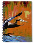 The Great Blue Heron Jumps To Flight Spiral Notebook