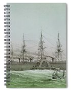 The Great Eastern Laying Electrical Cable Between Europe And America Spiral Notebook