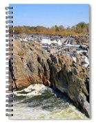 The Great Falls Of The Potomac Panorama Spiral Notebook