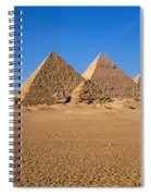 The Great Pyramids Giza Egypt Spiral Notebook