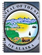 The Great Seal Of The State Of Alaska  Spiral Notebook