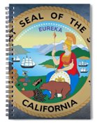 The Great Seal Of The State Of California Spiral Notebook