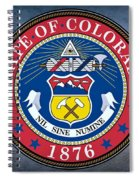 The Great Seal Of The State Of Colorado Spiral Notebook