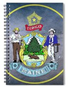 The Great Seal Of The State Of Maine  Spiral Notebook