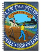 The Great Seal Of The State Of Minnesota Spiral Notebook