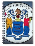The Great Seal Of The State Of New Jersey Spiral Notebook