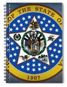 The Great Seal Of The State Of Oklahoma Spiral Notebook