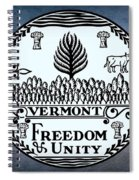 The Great Seal Of The State Of Vermont Spiral Notebook