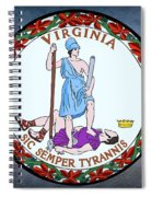 The Great Seal Of The State Of Virginia  Spiral Notebook