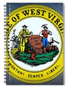 The Great Seal Of The State Of West Virginia Spiral Notebook