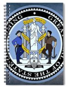 The Great Seal Of The State Of Wyoming Spiral Notebook