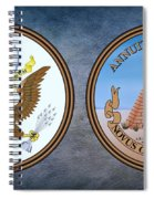 The Great Seal Of The United States Obverse And Reverse Spiral Notebook