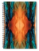 The Great Spirit - Abstract Art By Sharon Cummings Spiral Notebook