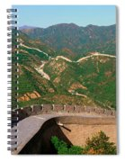 The Great Wall At Badaling In Beijing Spiral Notebook