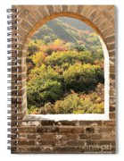 The Great Wall Window Spiral Notebook