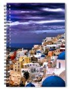 The Greek Isles Santorini Spiral Notebook