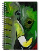 The Green Elephant In The Room Spiral Notebook