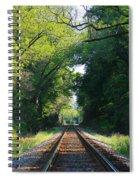 The Green Line Railroad Track Art Spiral Notebook