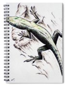 The Green Lizard Spiral Notebook