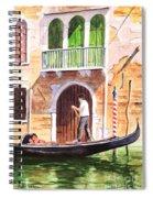 The Green Shutters - Venice Spiral Notebook