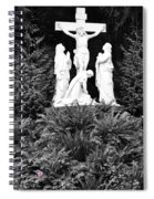 The Grotto - Calvary Scene - Pink Flower Spiral Notebook