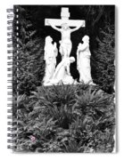 The Grotto - Calvary Scene With Border Spiral Notebook