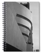 The Guggenheim In Black And White Spiral Notebook