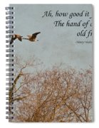 The Hand Of Friendship Spiral Notebook