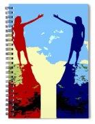 The Hand Of Friendship Spiral Notebook