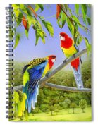 The Happy Couple - Eastern Rosellas  Spiral Notebook