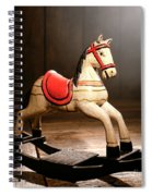 The Happy Little Rocking Horse In The Attic Spiral Notebook