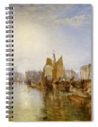 The Harbor Of Dieppe Spiral Notebook