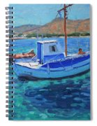 The Harbor  Tinos Spiral Notebook
