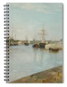 The Harbour At Lorient Spiral Notebook