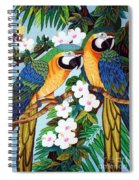 The Harlerquin Hand Embroidery Spiral Notebook