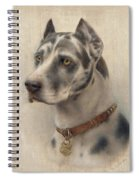 The Head Of A Doberman Spiral Notebook