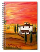 The Heat Of Tuscany Spiral Notebook