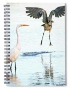The Heron With The Bird Face Butt. Spiral Notebook