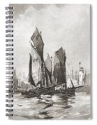 The Herring Fleet, Scarborough Spiral Notebook