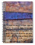 The High Calling Of God In Christ Jesus Spiral Notebook