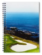 The Hole 7 At Pebble Beach Golf Links Spiral Notebook