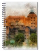 The Hollywood Tower Hotel Disneyland Photo Art 01 Spiral Notebook