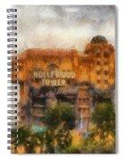 The Hollywood Tower Hotel Disneyland Photo Art 02 Spiral Notebook