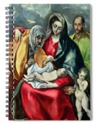 The Holy Family With St Elizabeth Spiral Notebook