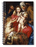 The Holy Family With St Elizabeth St John And A Dove Spiral Notebook