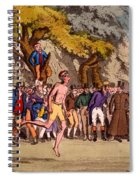 The Hopping Match On Clapham Common Spiral Notebook