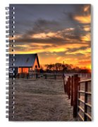 The Horse Barn Sunset Spiral Notebook