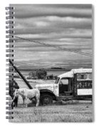 The Horses And The Welding Truck Spiral Notebook