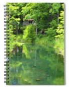 The House On The Bank Of The Lake Spiral Notebook