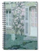 The House With Roses Spiral Notebook
